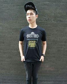 BISTRO GOOD FOOD TSHIRT [Black] 89K
