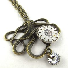 Vintage Steampunk Octopus Necklace | $39 on www.runwildhorses.com.au ©Run Wild Horses
