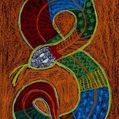Aborigine Snake Drawing
