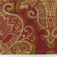 Red Fil Anthony Home Decor Fabric | Shop Hobby Lobby...I am making PILLOWS and CURTAINS with this fabric for my living room fall Decor'
