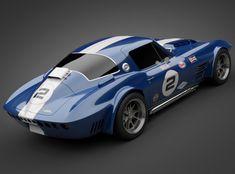 1964 grandsport corvette sports car 3d model max obj 3ds lwo lw lws 5