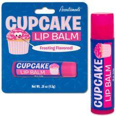 Cupcake flavoured lip balm! Yes please  @Maura Carson-Murray and @Ashleigh Flynn