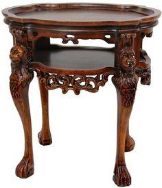Charming Oriental Furniture Richard The Lionheart Side Table By ORIENTAL FURNITURE.  $728.00. Classic European Design