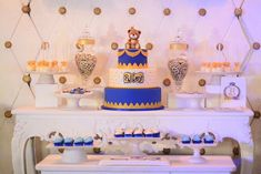 Riley's Royal Prince Themed Party – Sweets Party Sweets, Royal Prince, 1st Birthdays, Party Themes, Children, Young Children, Boys, 1st Year Birthday, Kids