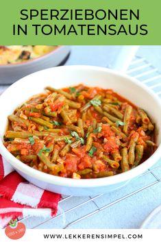 Sperziebonen in tomatensaus - heerlijk bijgerecht - Lekker en Simpel
