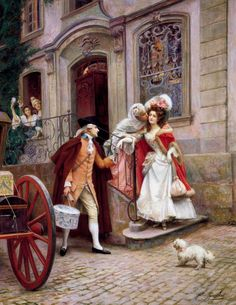 Jules Girardet - Departing on honeymoon