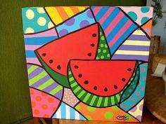 Para sublimar Art Drawings For Kids, Drawing For Kids, Art For Kids, Fruit Painting, Fabric Painting, Art Pop, Arte Country, Art Plastique, Mosaic Art