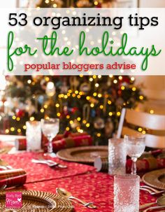 """How do you stay organized at Christmas time? A huge list of tips and tricks for keeping your family and your life organized during the holidays. """" From planners to schedules to decorating to activities - it's all here! I could spend a LONG time on this one post!"""