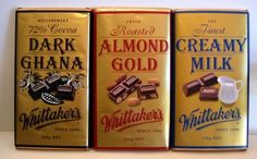 Whittakers Chocolate This is regarded (by me) as New Zealand's premium chocolate range. A family business in Porirua, near Wellington. Dark Ghana is my pick! New Zealand Image, New Zealand Food, Like Chocolate, Chocolate Bars, Gold Milk, New Zealand Travel Guide, Kiwiana, Chocolate Packaging, Protein Bars