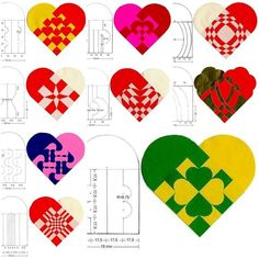 How to make beautiful simple Heart Pattern designs step by step DIY tutorial instructions | How To Instructions