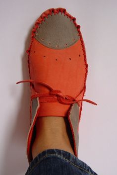 Ooohhh...!! 23 Tribes Coral Custom made by hand Leather moccasins by 23Tribes, $230.00