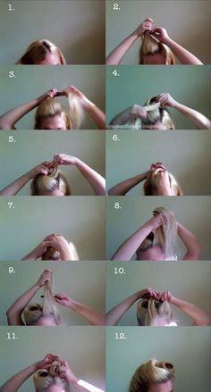 Cute pin-up hair tutorial.