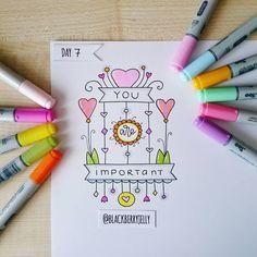 Day 206/365 #blackberryjellysdoodles #100daysproject #the100dayproject #drawing #draweveryday #doodle #markers #copic #copicmarkers #youareimportant #inspiration #bujoinspiration #bujo #flower #heart #365daysofdrawing #365days #365днейрисования #365дней #рисунок #творчество #маркеры #вдохновение #тыважен