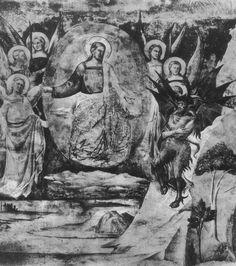Taddeo Gaddi, Satan challenges God, Campo Santo di Pisa, 14th century