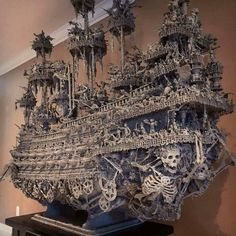 "sixpenceee: ""Handmade ghost ship by https://www.instagram.com/shallowgravestudios/ """