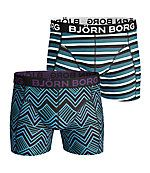 Bjornborg.com -  2-pack shorts Zig Zag Blocks & BB Fast Stripe - Sports Fashion & Underwear