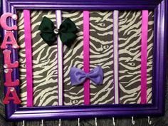 FREE hair bow with Wooden Framed hair bow organizer by RaftsCrafts, $30.00