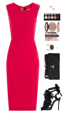 """Sin título #4218"" by mdmsb on Polyvore featuring moda, Roland Mouret, Dsquared2, Charlotte Tilbury y Witchery"