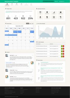 [FREE] Twitter Bootstrap Admin Template - TemplateVamp by Themesforce, via Behance