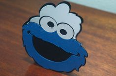 Cookie Monster Card by MomsCrazyCraftroom on Etsy