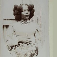 A stunning Victorian Madagaskan beauty . Its PRE-AFRO with a very creative twist! For more like this visit: https://www.facebook.com/afroditewigs