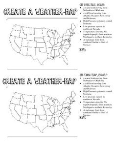 Printables Weather Map Worksheet reading a weather map worksheet davezan collection of bloggakuten