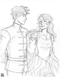 Dorian and Celaena, Throne of Glass