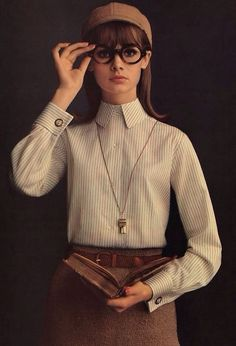 Jean Shrimpton in a 1964 advertisement for Lady Van Heusen, photograph by William Helburn