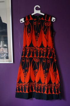 vintage psychedelic paisley dress 1960 60s by dieyoungstaypretty