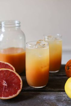 Triple Citrus Shrub is a wonderful way to start your day. Fresh orange, lemon and grapefruit puree smartened up with raw apple cider vinegar for all its health benefits and a good glug of honey to sweeten up the proceedings. Apple Cider Vinegar Remedies, Raw Apple Cider Vinegar, Vinegar And Honey, Natural Remedies For Arthritis, Natural Sleep Remedies, Cold Home Remedies, Yummy Drinks, Healthy Drinks, Yummy Food