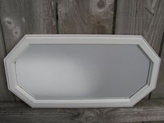 Vintage Upcycled Grey Octagon Mirror by InspireDesignBySarah, $28.00