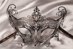 Luxury Venetian Filigree Metal Masquerade Mask - PRINCIPESSA  Simply GORGEOUS!!