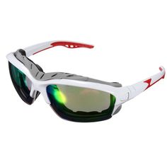 Unisex Sport Sun Glasses Cycling Bicycle Bike Outdoor Eyewear Goggle Sunglasses. Feature:  1.100% Brand New & High Quality. 2.Protecting your eyes from the sun dangerous ultraviolet rays 3.minimize light scattering, block out 99% of glare. 4.Portable for you to carry,  enjoy the time 5.As a perfect gift for yourself or your friends Description:  Lens Material :  PC Frame Material:  Plastic Color:  Red Frame bright yellow Lens,  Red Frame Blue Lens, Black Frame yellow Lens, Black Frame grey…