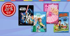 """Save up to 20% on Kids My Adventure Books! Just use discount code """"MAB"""" at the checkout! We have a massive selection including all the favorites; Frozen, Star Wars, Paw Patrol, Barbie and Disney Books galore! http://www.simplypersonalized.com/my-adventure-books/?utm_source=pinterest&utm_medium=post&utm_campaign=mab-social"""