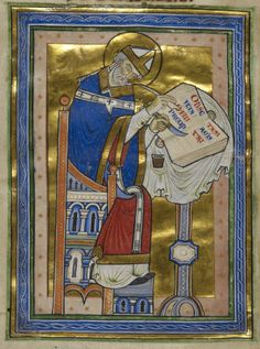 Saint Dunstan, hard at work – from a manuscript made at Canterbury between c. 1170 and c. 1180 (Royal MS 10 A XIII).