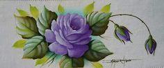 Rosa: Lilás, violeta, violeta cobalto e branco.  Folhas: Verde folha, Verde kiwi, Verde oliva, Verde pântano, amarelo cádmio e branco.
