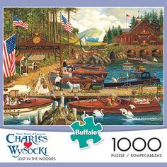 Charles Wysocki Lost in the Woodies 1000 Piece Jigsaw Puzzle. #charleswysocki #buffalogames #iamapuzzler #jigsawpuzzle