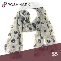 Selling this Grey and black skull scarf on Poshmark! My username is: viclizrod. #shopmycloset #poshmark #fashion #shopping #style #forsale #Accessories