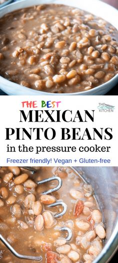 These Mexican Pinto Beans are made in the Instant Pot or other pressure cooker in under an hour! They are flavorful and the perfect side to tacos, enchiladas, carne asada and more! Get the recipe at The Cheerful Kitchen. Pressure Cooker Beans, Best Pressure Cooker, Instant Pot Pressure Cooker, Pressure Cooker Recipes, Pinto Beans In Pressure Cooker Recipe, Pot Of Pinto Beans Recipe, Pressure Cooking, Pressure Pot, Mexican Beans Recipe
