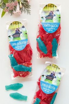Swedish Fish Wedding Favor - two less fish in the sea