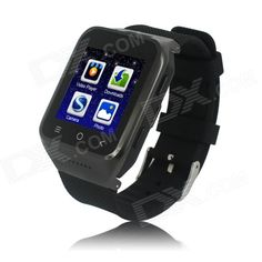 "ZGPAX S8 Android 4.4 Dual Core WCDMA Watch Phone w/ 1.54"", 4GB ROM, 8G TF, GPS, WiFi - Black"