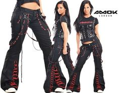 Amok Extreme Black and Red Pants