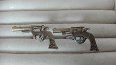 Bronze gun  cufflinks  - Steampunk , mens cufflinks , wedding groomsmen by MetalmanEd on Etsy