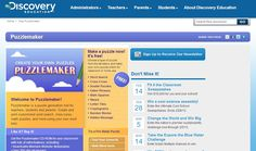 Discovery Education's Puzzlemaker provides teachers, students, and parents, the tools necessary to create crossword, puzzles, word search puzzles, mazes and more online!