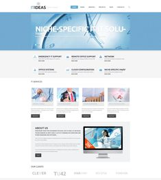 ITideas - IT Consulting Responsive WordPress Theme Modern web strives for simplicity. Clean designs turn out to be extremely popular, and here is one of them. Try it for any business websites you're going to present online. Featuring uncluttered look, calm colors, content-wise structure of the layout, this theme offers everything you need to set up a solid web presence. Retina Ready is a design that is easily adjusted to high pixel density screens. Thanks to retina ready desing template