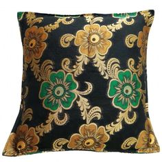 A Decorative Throw Pillow Cover with Floral Design. Elegant and Premium. Cushion Cover Designs, Sofa Cushion Covers, Throw Pillow Covers, Interior Ideas, Decorative Throw Pillows, Floral Design, Cushions, India, Elegant