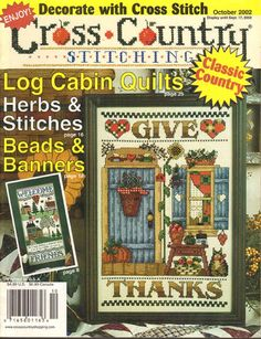 Cross Stitch Magazine Cross Country Stitching Cross Stiitch Magazine Oct 2002 #CrossCountryStitching