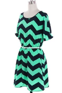 Brennan Chevron Dress. If this wasin a didifferent color I would really love it
