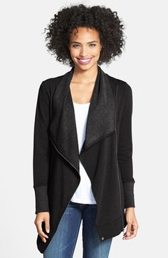 black knit drape front jacket!  free shipping and free returns!