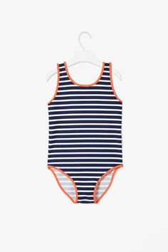 COS Stripy swimsuit